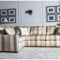 идея необычного интерьера квартиры с диваном картинка