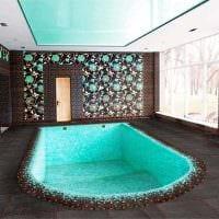идея современного стиля небольшого бассейна картинка