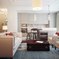 идея необычного интерьера спальни 3-х комнатной квартиры картинка