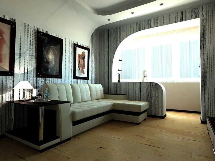 идея оригинального оформления гостиной комнаты 17 кв.метров