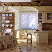 идея необычного дизайна квартиры в деревенском стиле фото
