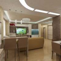 идея красивого декора гостиной 3-х комнатной квартиры картинка