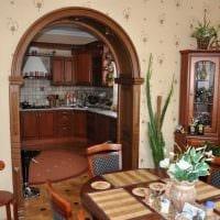 идея современного дизайна кухни с аркой картинка