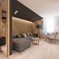 вариант современного дизайна кухни 3-х комнатной квартиры фото