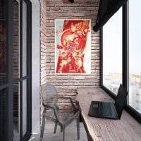 идея красивого стиля маленького балкона картинка