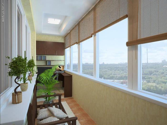 вариант красивого стиля маленького балкона