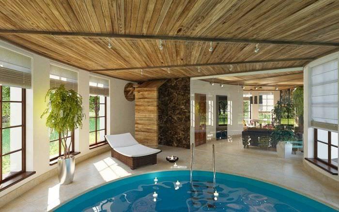 этого достаточно дом с бассейном внутри проект фото одного пляжного бара
