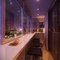 идея необычного декора небольшого балкона фото