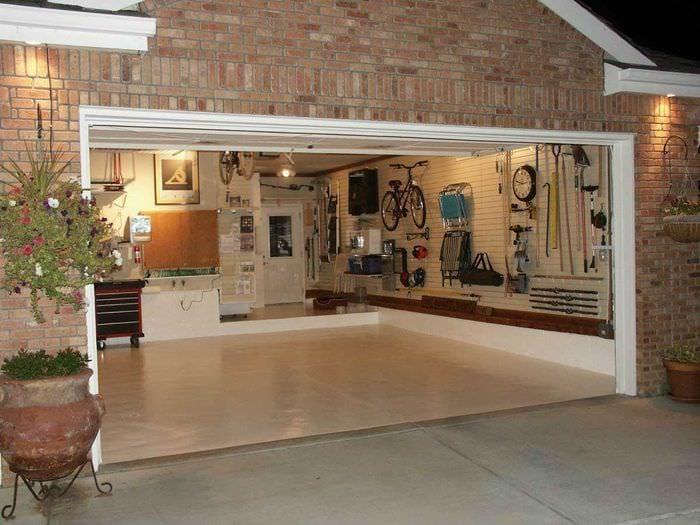 идея необычного стиля гаража