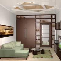 идея функционального стиля гостиной комнаты 17 кв.метров картинка