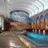 идея оригинального стиля маленького бассейна фото