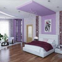 вариант необычного декорирования стиля спальни фото