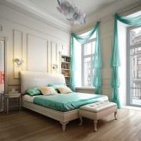 идея оригинального декорирования дизайна спальной комнаты картинка