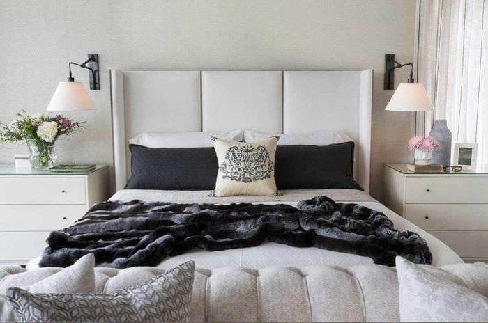 идея стильного декорирования стиля спальни