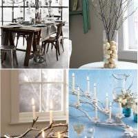 вариант яркого дизайна вазы с декоративными цветами фото