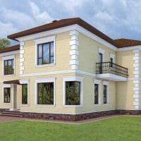 вариант яркого фасада загородного дома картинка