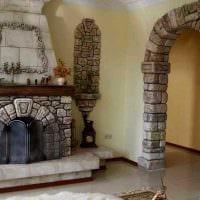 идея оригинального декоративного камня в стиле квартиры фото