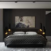 вариант красивого декорирования дизайна спальни фото