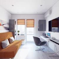 идея оригинального дизайна 2 комнатной квартиры картинка пример