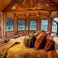 вариант необычного стиля дома в деревне фото