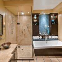 вариант необычного дизайна ванной картинка