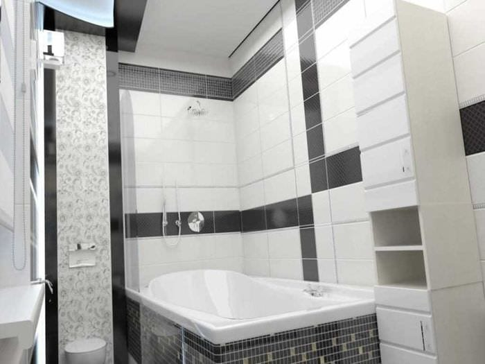 идея красивого дизайна белой ванной
