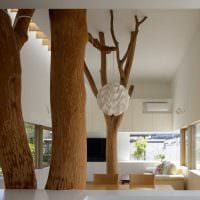 идея оригинального дизайна дачи в дереве фото