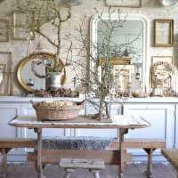 вариант красивого интерьера дома в деревне картинка