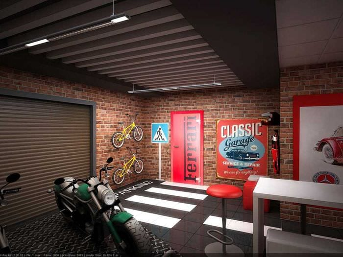 вариант красивого стиля гаража