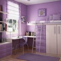 идея яркого дизайна комнаты для девочки картинка