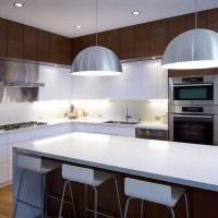 идея яркого стиля большой кухни картинка