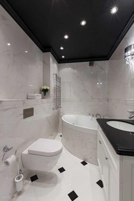 вариант необычного стиля ванной комнаты