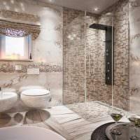 идея необычного дизайна ванной в квартире фото