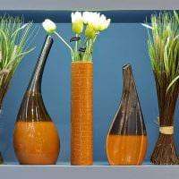 идея оригинального украшения напольной вазы фото