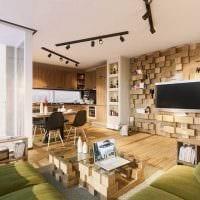 идея необычного украшения стен в гостиной картинка