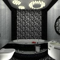 вариант оригинального стиля белой ванной фото