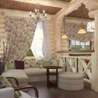 вариант яркого стиля дома в деревне картинка