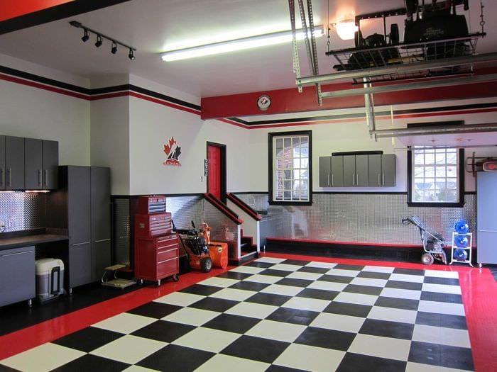 идея красивого дизайна гаража