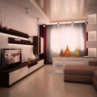 идея яркого интерьера гостиной комнаты 17 кв.метров картинка