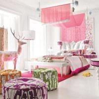 вариант оригинального стиля спальни для девочки картинка