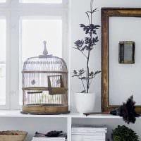 идея яркого дизайна квартиры с декоративной клеткой фото