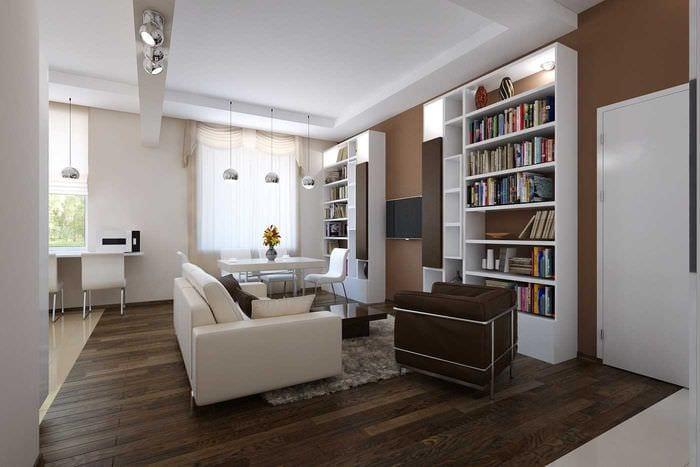 вариант яркого дизайна 2 комнатной квартиры