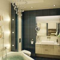 идея яркого стиля ванной фото