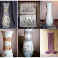 вариант красивого оформления напольной вазы картинка