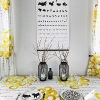 идея красивого декорирования стола фото