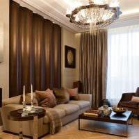 вариант необычного декора гостиной комнаты в современном стиле фото
