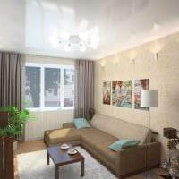 идея яркого дизайна гостиной в современном стиле картинка