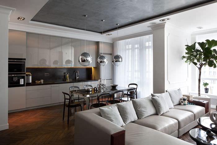 идея необычного стиля комнаты в стиле современная классика