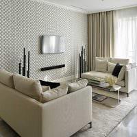 вариант необычного стиля комнаты в стиле современная классика картинка