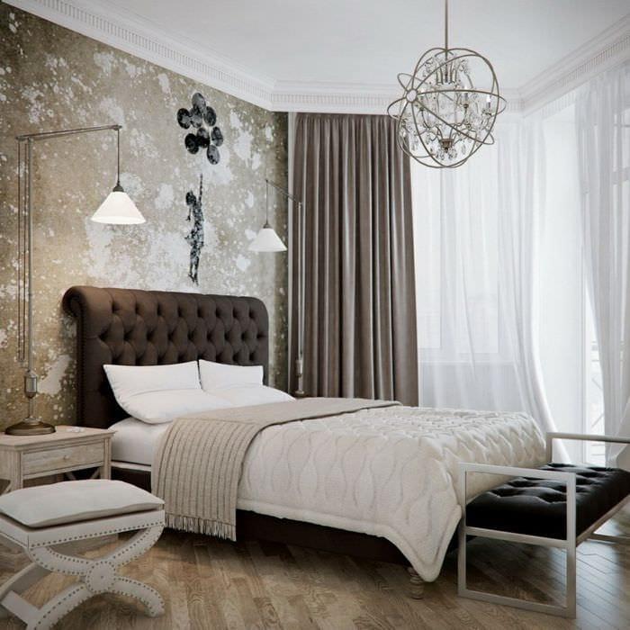 идея необычного интерьера квартиры в стиле современная классика
